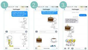 iMessage Sticker happy birthday