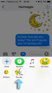 How to use iMessage Stickers - step 1
